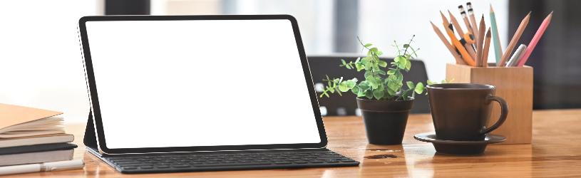 Sluit een toetsenbord aan op de tablet