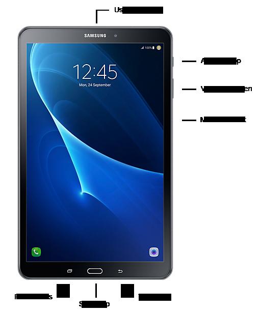 Knoppen Samsung Galaxy Tab A