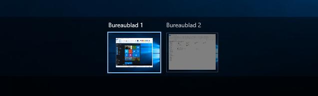 Windows10 wisselen tussen Bureaubladen