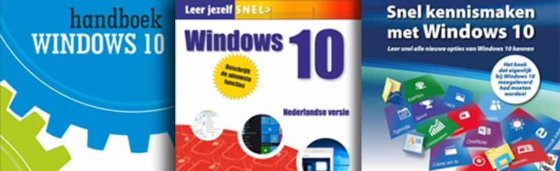 recensie, drie windows 10-boeken
