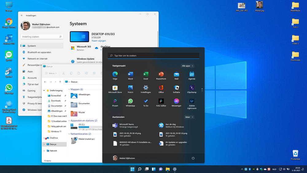 Nieuw Startmenu Windows 11