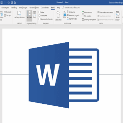 vensters splitsen in word