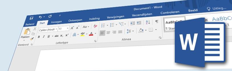 Briefpapier maken in Word 2016