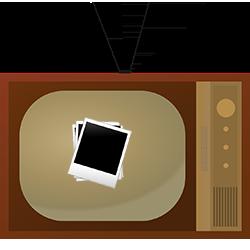 Foto's van oude tv-programma's bekijken
