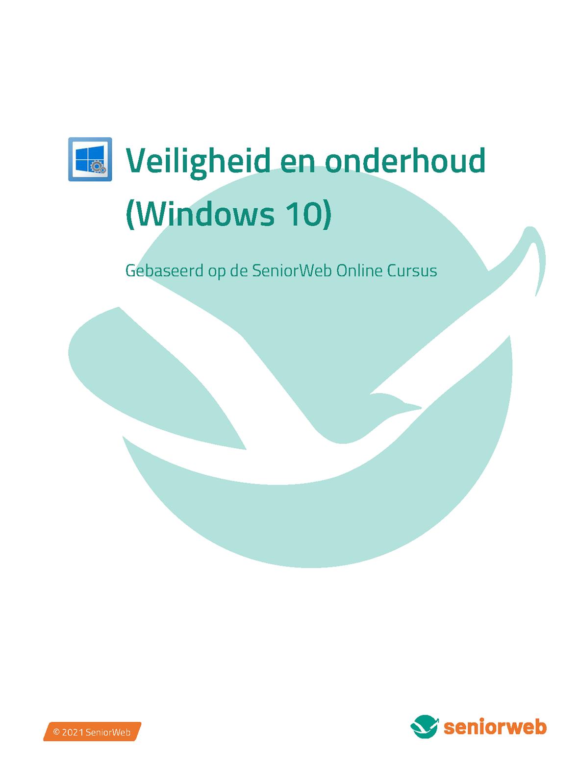 Cursus - Veiligheid en onderhoud (Windows 10)